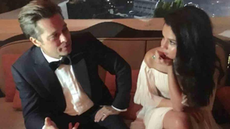 Selena Gomez y Brad Pitt