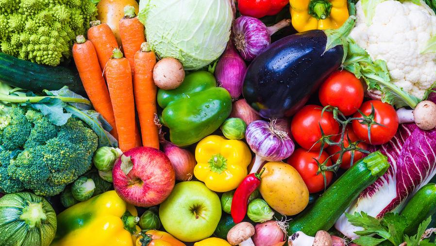 Varios vegetales de colores