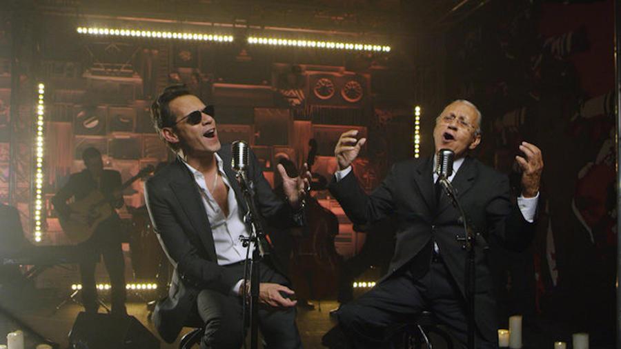 Marc Anthony y su padre Felipe Muñiz en el especial de Spotify, La Familia