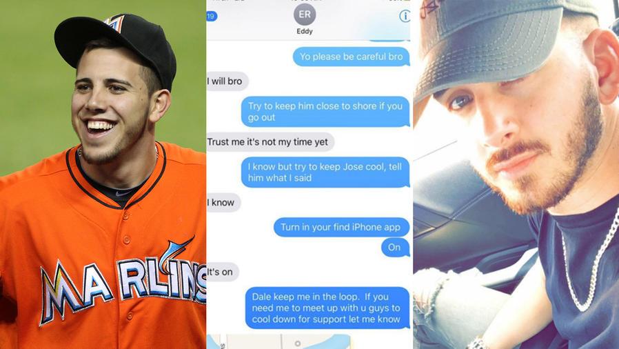 Los escalofriantes mensajes de texto de un amigo de José Fernández antes de morir