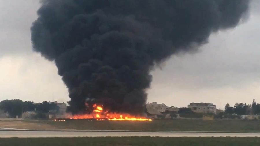 El siniestro de un avión en el aeropuerto de Malta deja cinco muertos