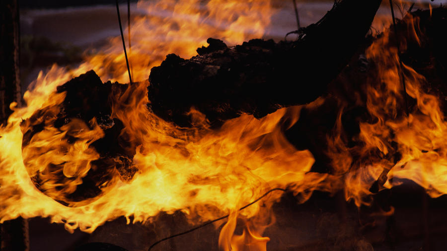 Burning Corpse on Funeral Pyre