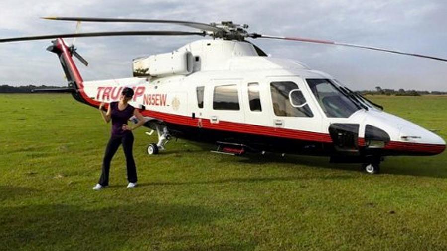 Thalía en Helicóptero de Trump