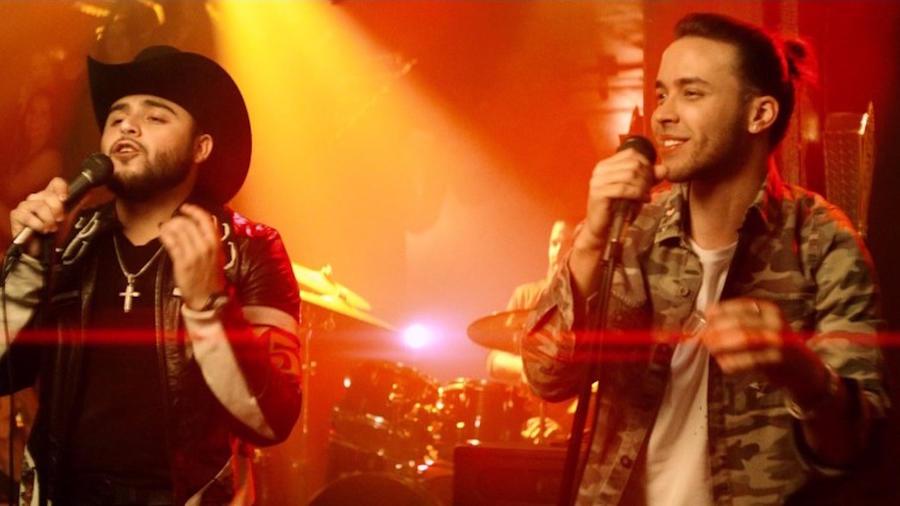 Gerardo Ortiz y Prince Royce en el video Moneda