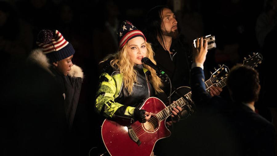 Madonna en el Washington Square Park