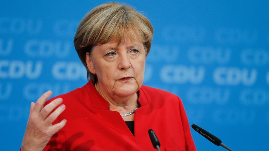 Angela Merkel en conferencia de prensa en Berlín el 20 de Noviembre del 2016