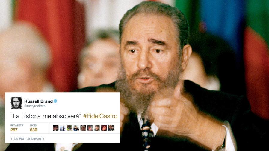 Famosos y políticos lamentan la muerte de Fidel Castro