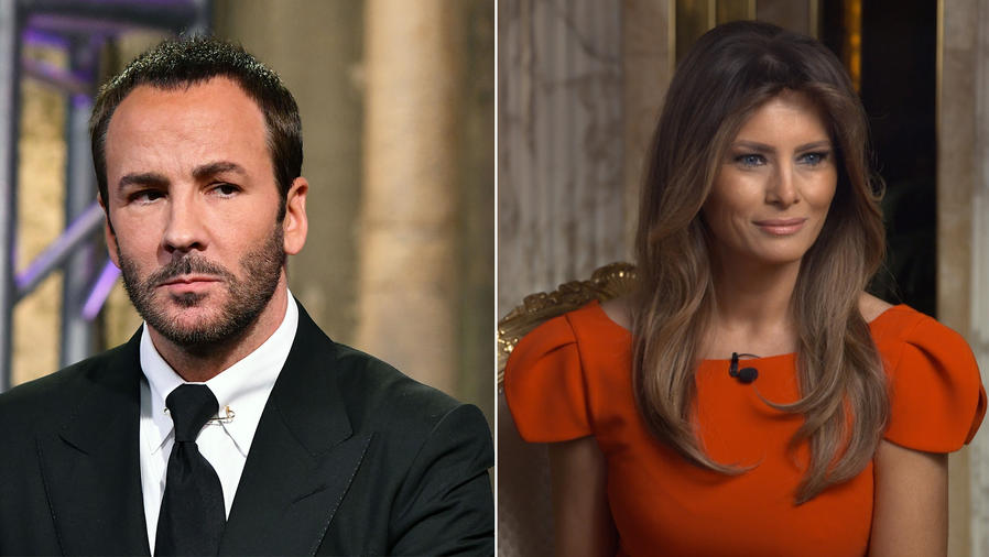 Tom Ford y Melania Trump
