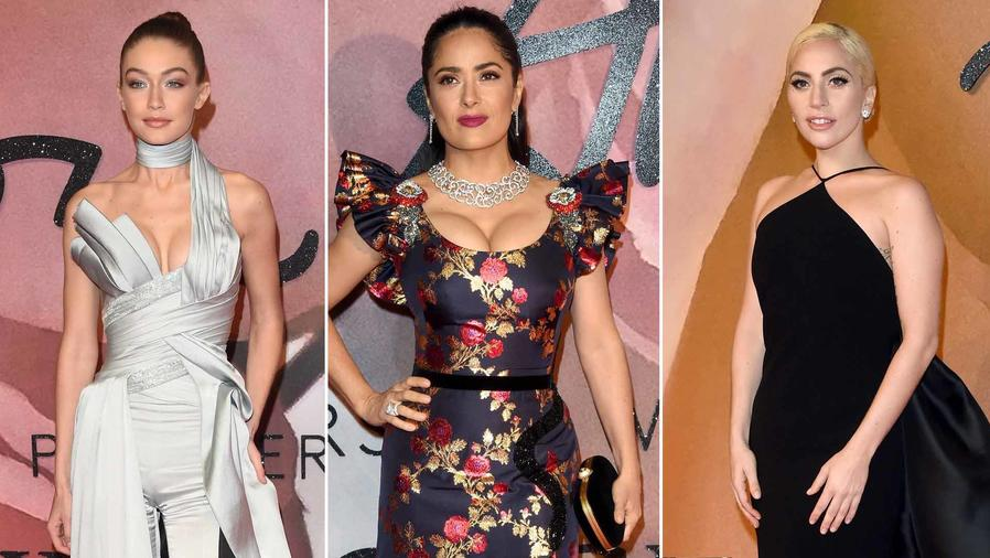 Celebridades en la alfombra roja de los Fashion Awards 2016