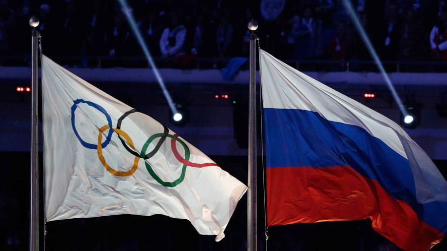 banderas de olimpiadas y rusia