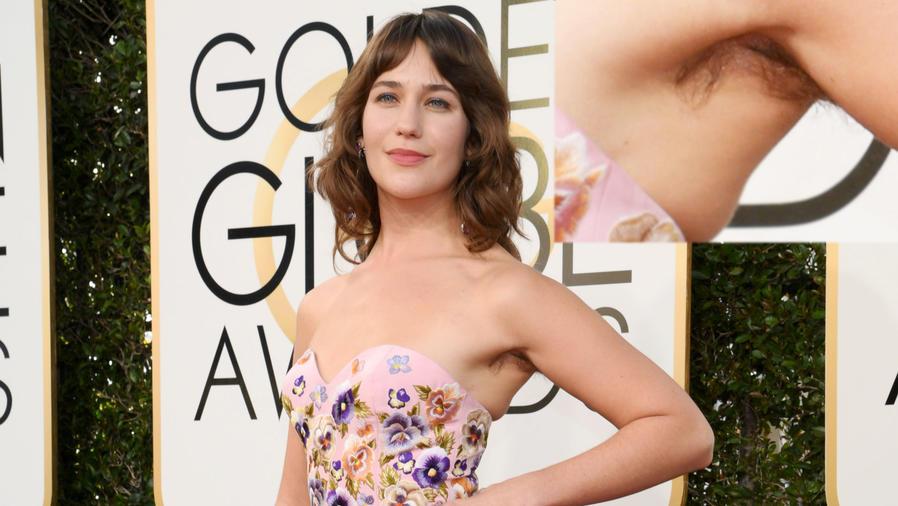 Lola Kirke mostró las axilas peludas en la alfombra roja de los Golden Globes 2017