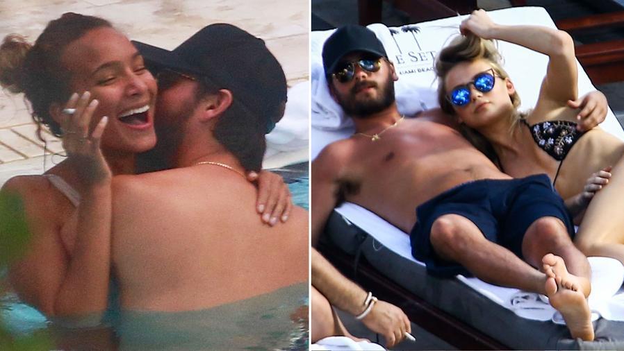 Scott Disick se mostró muy cariñoso con dos modelos en Miami