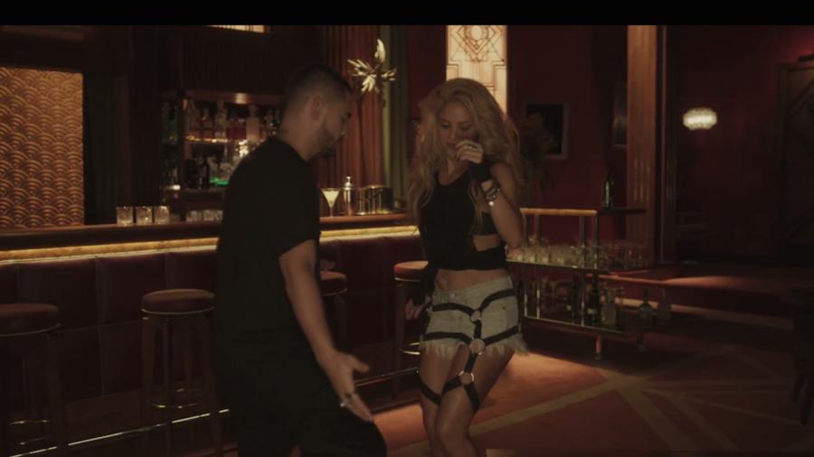 Shakira y Maluma en el video Chantaje