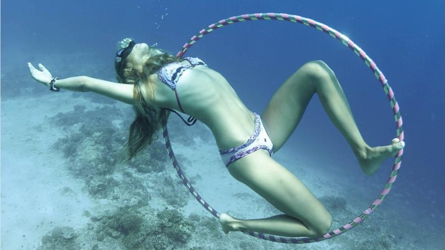 Yoga bajo el agua