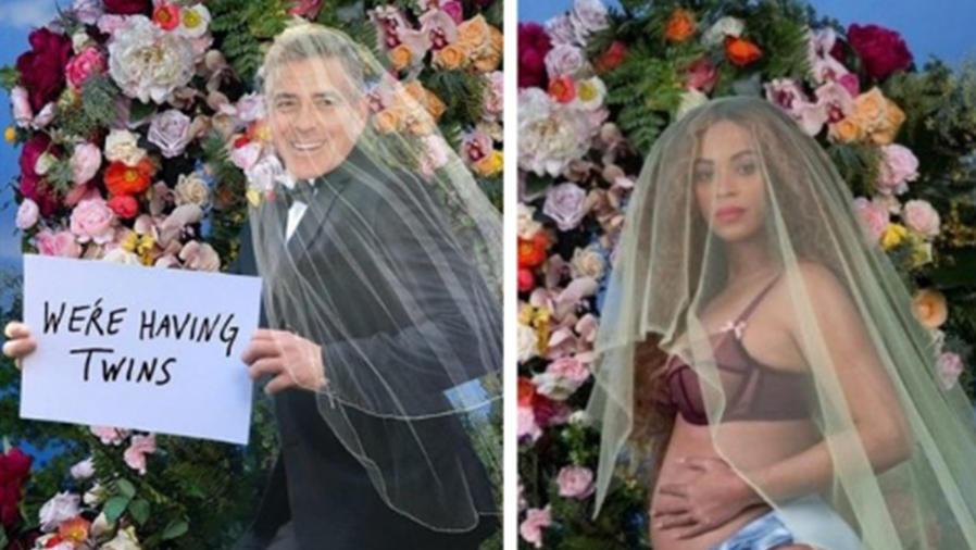 El embarazo de Amal Clooney genera memes en las redes sociales