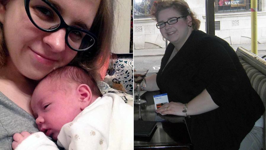 Tasha Frampton antes y después de perder peso