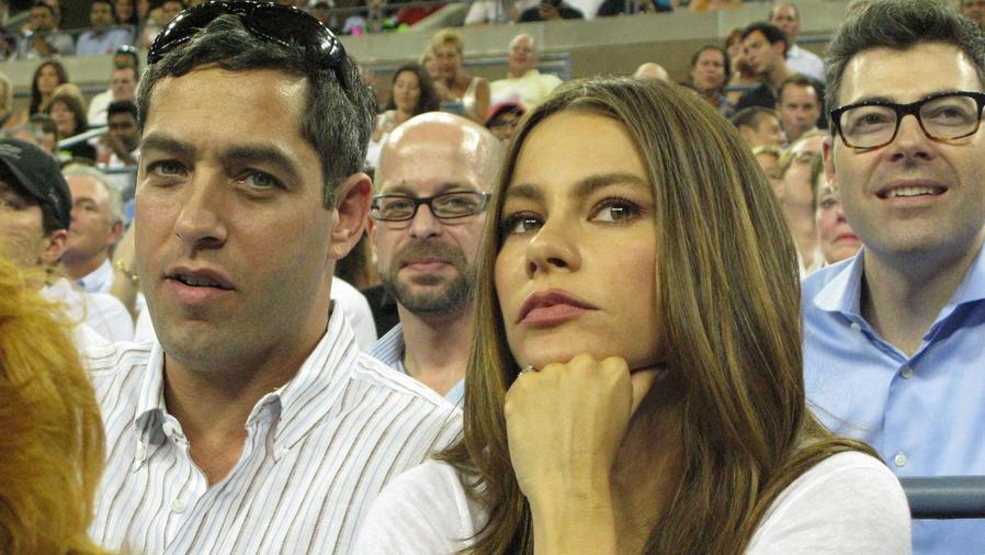 Nick Loeb y Sofía Vergara en el US Open 2012
