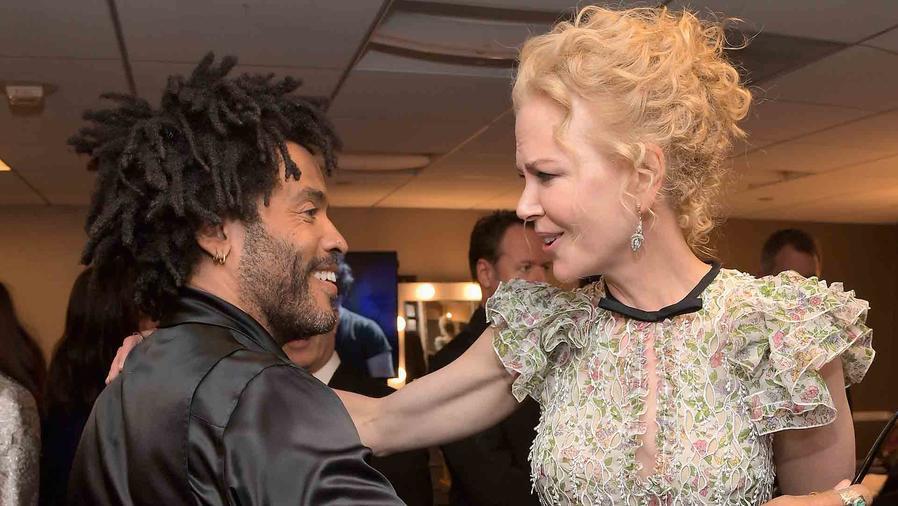 Nicole Kidman y Lenny Kravitz en Hollywood Film Awards 2016