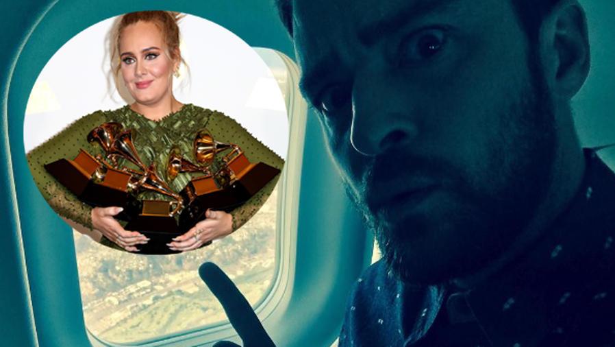 Justin Timberlake en un avión y Adele en los Grammys 2017