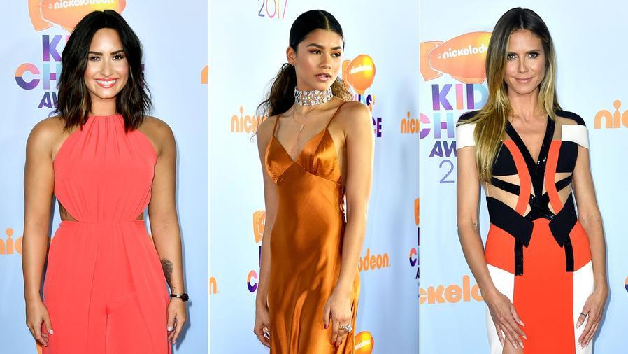 Demi Lovato, Zendaya y Heidi Klum en los Kids Choice Awards 2017