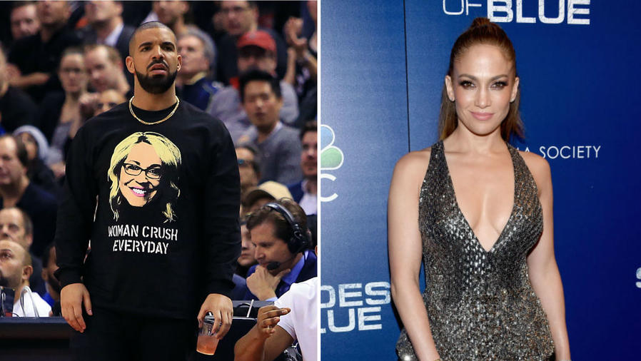 Drake y JLo posando