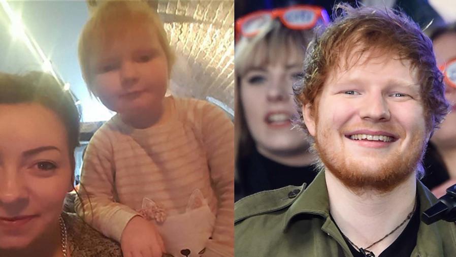 Ed Sheeran y la niña que es idéntica a él