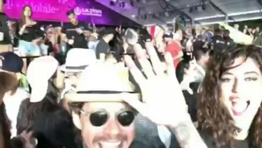 Marc Anthony y Mariana Downing en el Ultra Music Festival 2017