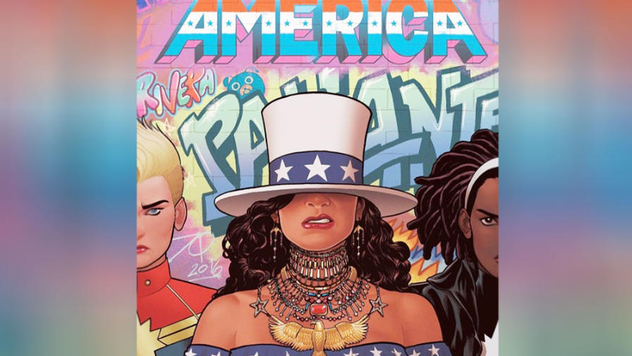 """Cover art del comic de """"Miss América"""""""