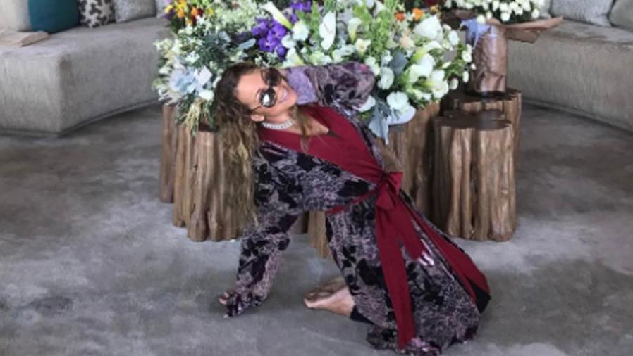 Mariah Carey en su mansión