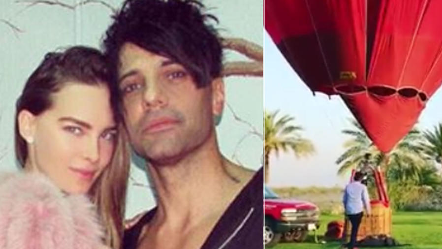 Belinda y Criss Angel volaron en globo