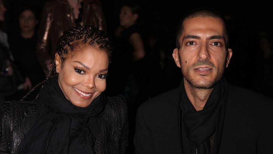 Janet Jackson y Wissam al Mana en la Milan Fashion Week de 2013