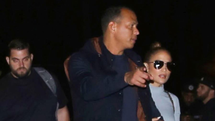 Jennifer Lopez con Alex Rodríguez en Los Ángeles