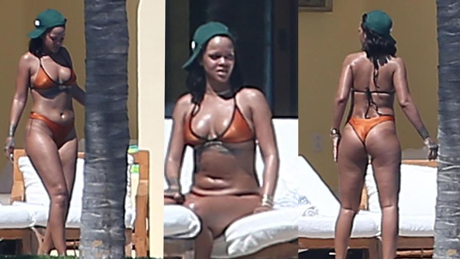 Rihanna en traje de baño en sus vacaciones, en México