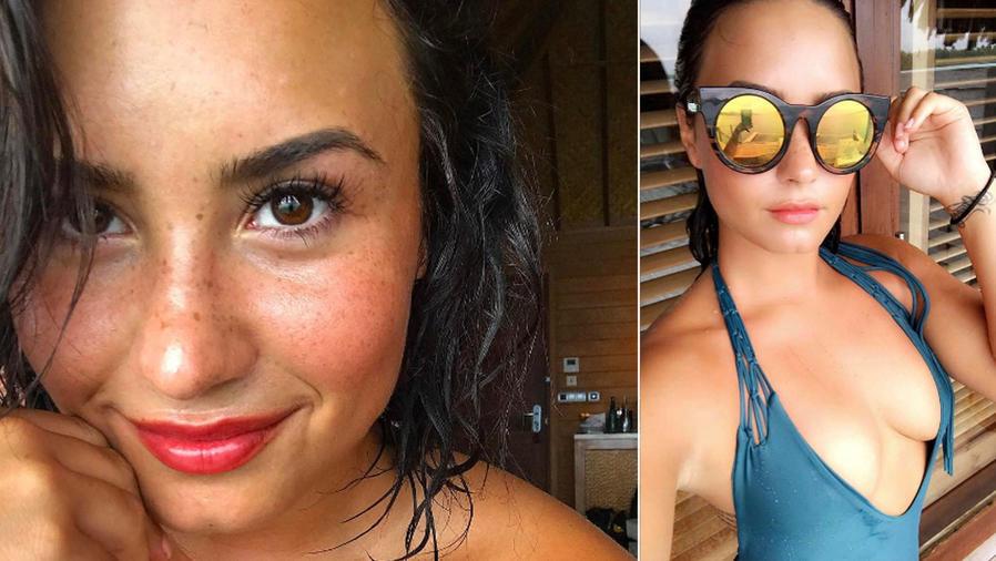 Demi Lovato luce un escote atrevido