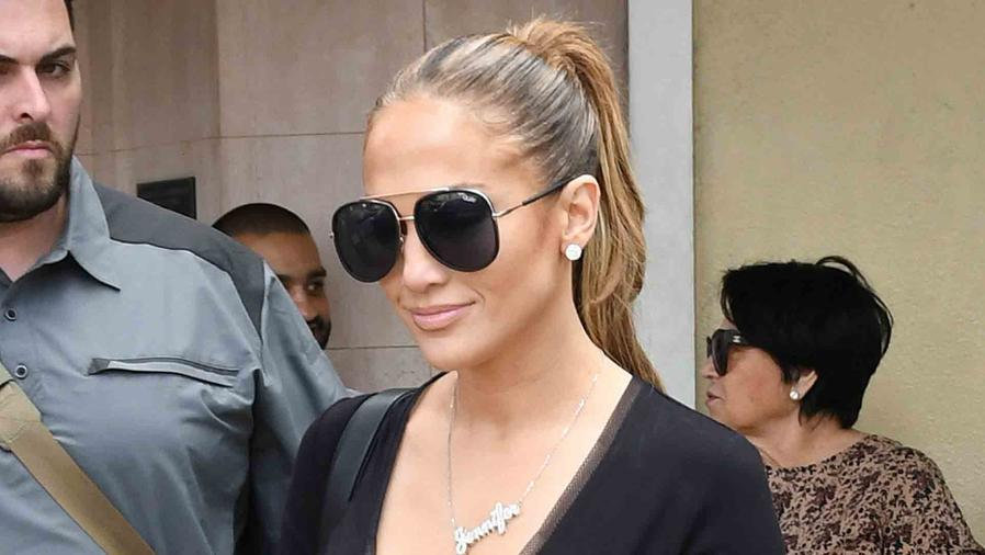 Jennifer Lopez Flaunts Major Cleavage While Shopping in Miami