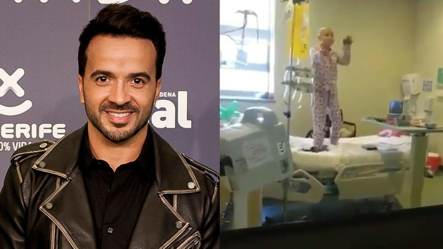 Luis Fonsi se conmueve con niña con cáncer