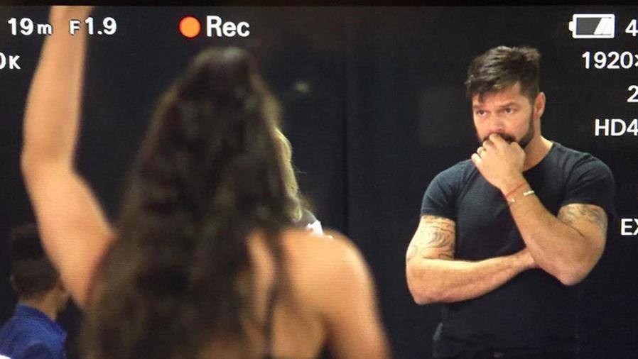 Ricky Martin en audición de sus bailarines
