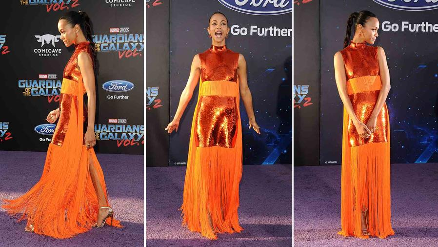 Zoe Saldana at the Guardians of the Galaxy Premiere