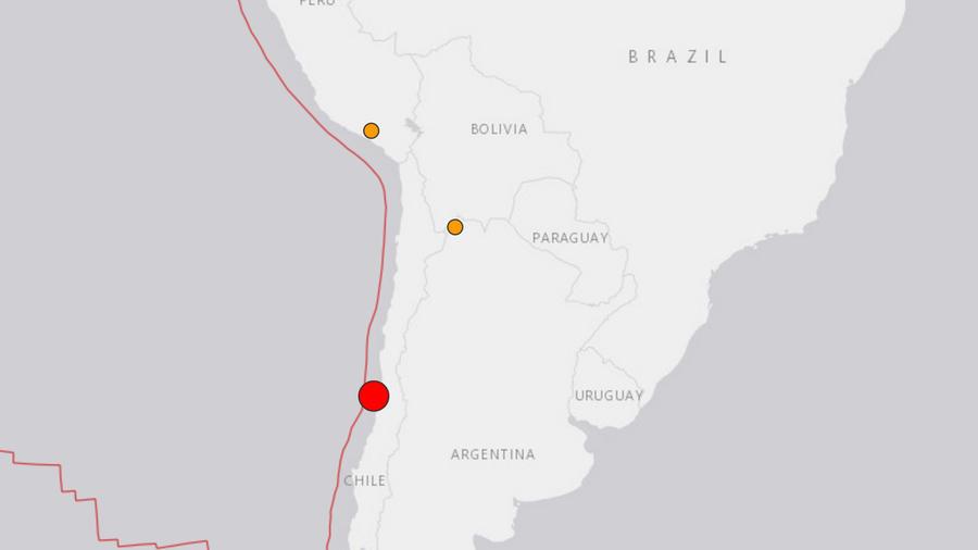 Gráfico del sismo en Chile el lunes 24 de abril del 2017. El Servicio Geológico de Estados Unidos reportó que el sismo fue 7,1 grados y tuvo su epicentro a unos 35 kilómetros al oeste de Valparaíso a una profundidad de 10 kilómetros