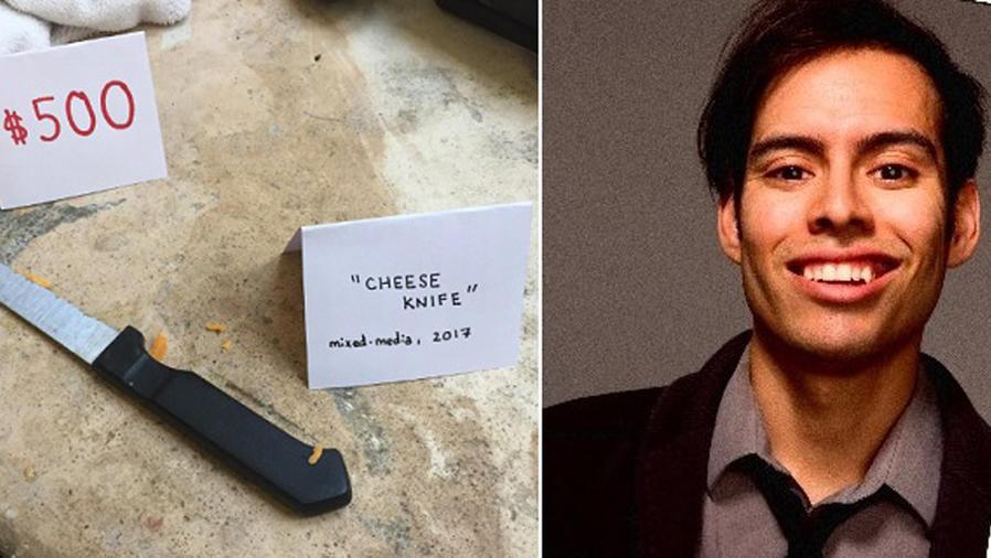 Cuchillo sucio de la galería de arte de Justin Cousson