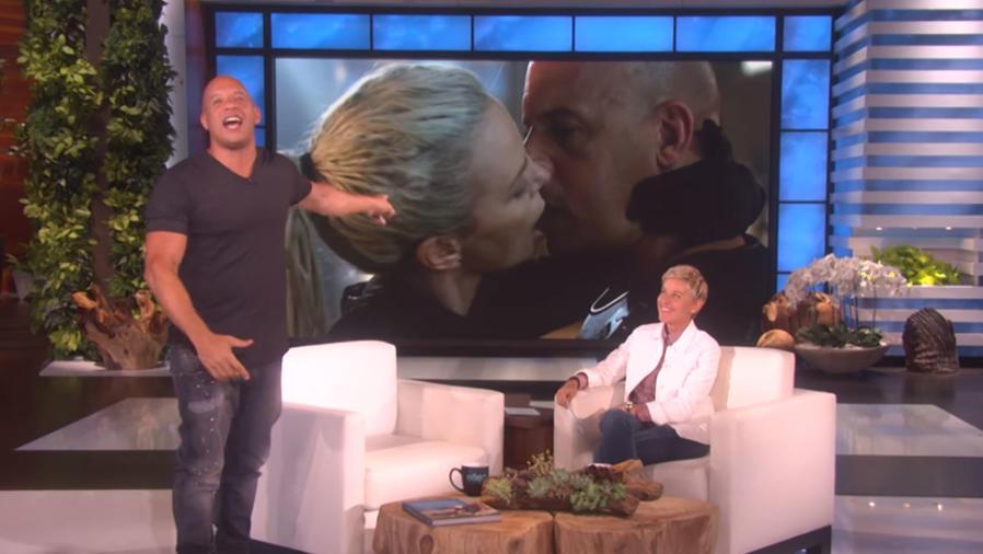 Vin Diesel habla del beso con Charlize Theron en el show de Ellen DeGeneres