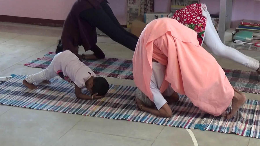 Granny 98 Years Old Yoga Poses