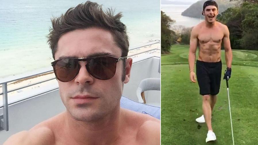 Zac Efron sin camisa