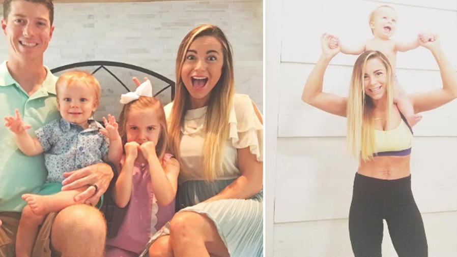 Mamá fitness con su familia