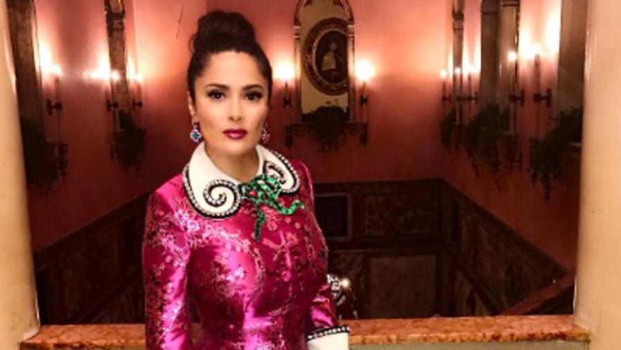 Salma Hayek en la fiesta Cini