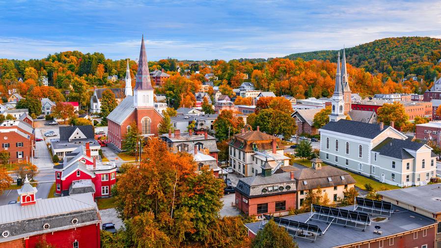Panorámica de Montpelier, en el estado de Vermont