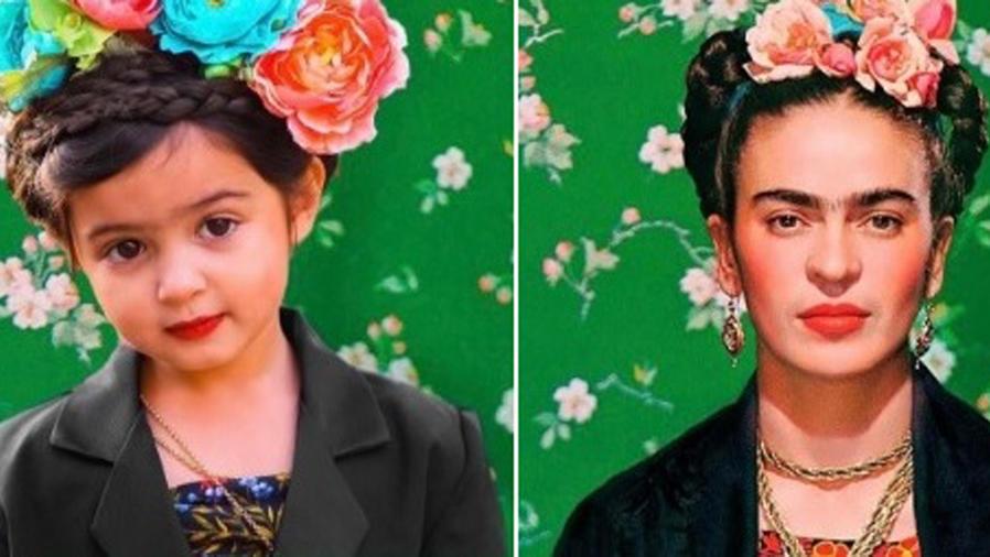 Scout Penelope vestida como Frida Kahlo
