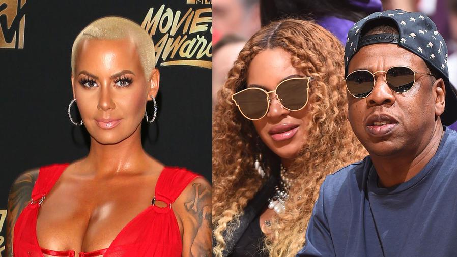 Amber Rose, Beyoncé y Jay Z