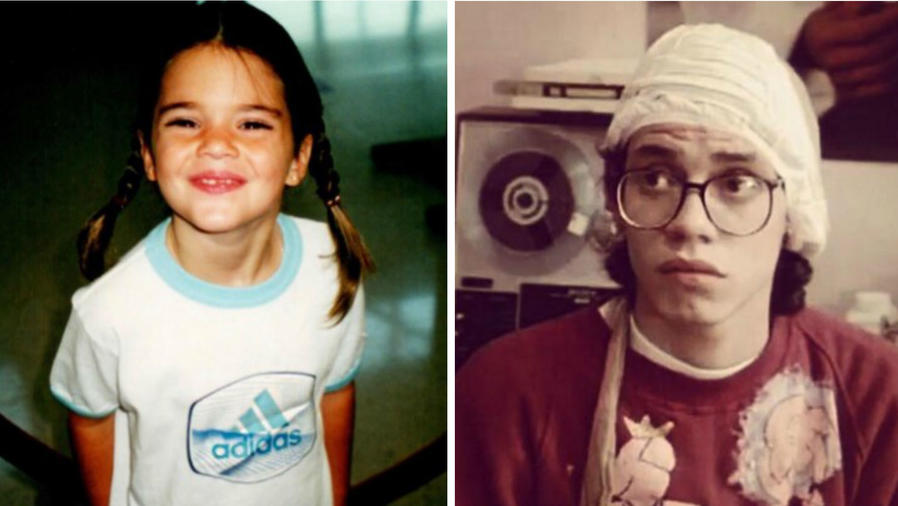 Kendall Jenner y Marc Anthony de niños