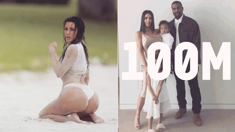 Collagede Kim Kardashian con su familia